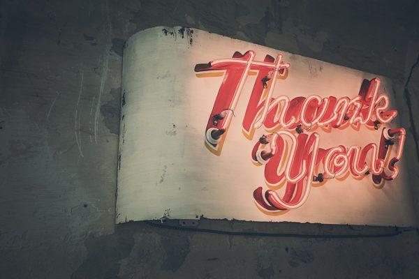 Non abbiate paura di dire grazie